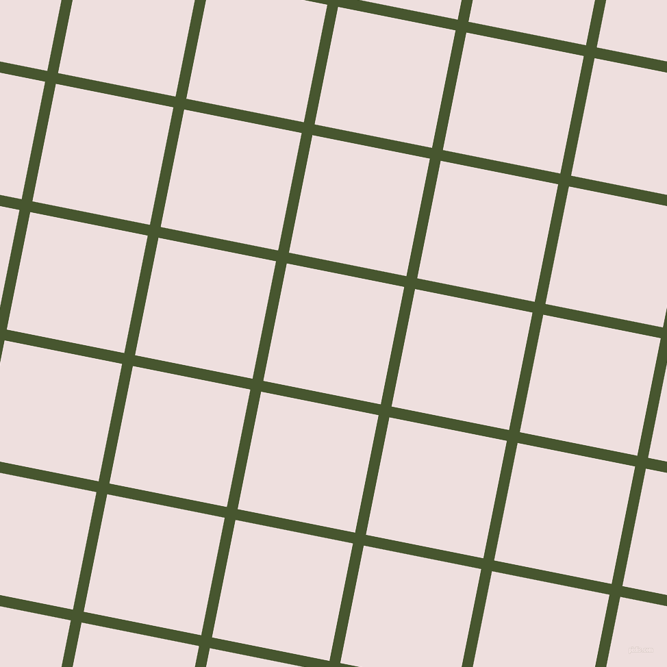 79/169 degree angle diagonal checkered chequered lines, 16 pixel line width, 175 pixel square size, Clover and Soft Peach plaid checkered seamless tileable