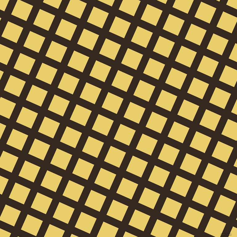 66/156 degree angle diagonal checkered chequered lines, 24 pixel line width, 54 pixel square size, Cocoa Brown and Golden Sand plaid checkered seamless tileable