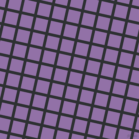 77/167 degree angle diagonal checkered chequered lines, 10 pixel line width, 43 pixel square size, Cod Grey and Ce Soir plaid checkered seamless tileable