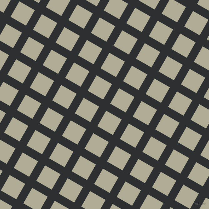 60/150 degree angle diagonal checkered chequered lines, 26 pixel line width, 57 pixel square size, Cod Grey and Eagle plaid checkered seamless tileable