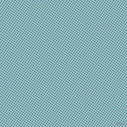 54/144 degree angle diagonal checkered chequered lines, 3 pixel line width, 6 pixel square size, Columbia Blue and Willow Grove plaid checkered seamless tileable