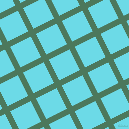27/117 degree angle diagonal checkered chequered lines, 20 pixel line width, 80 pixel square size, Como and Turquoise Blue plaid checkered seamless tileable