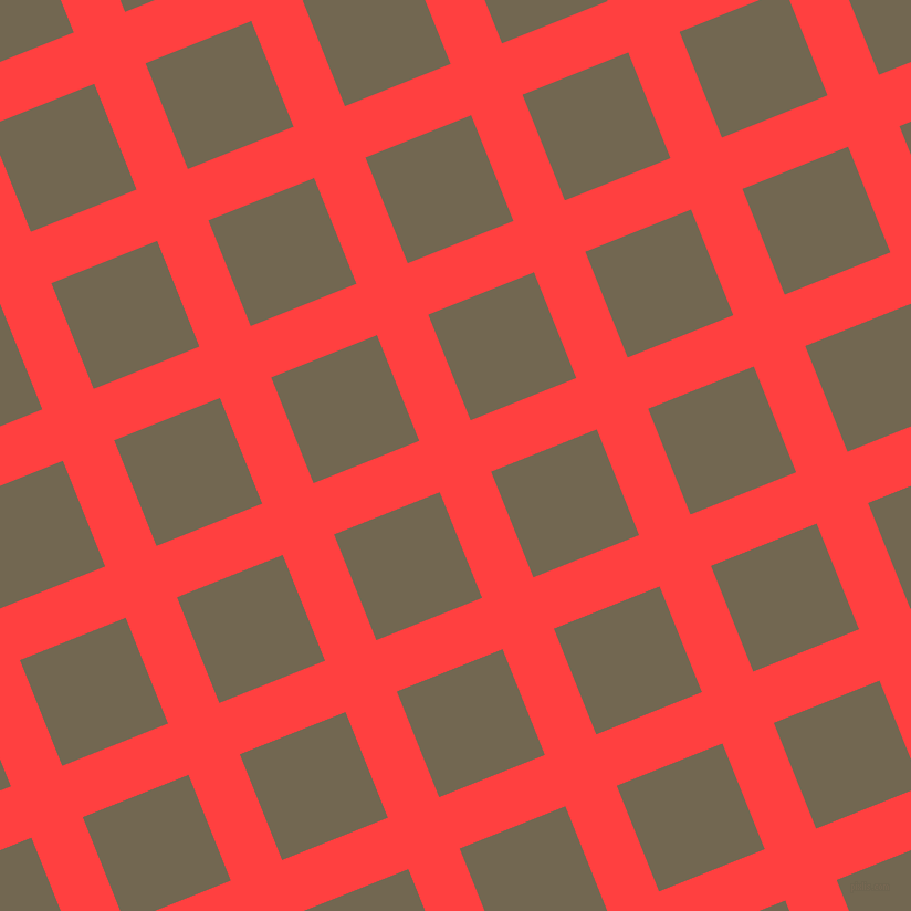 22/112 degree angle diagonal checkered chequered lines, 50 pixel line width, 103 pixel square size, Coral Red and Coffee plaid checkered seamless tileable