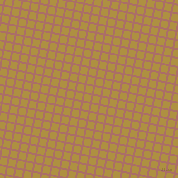 79/169 degree angle diagonal checkered chequered lines, 6 pixel lines width, 22 pixel square size, Coral Tree and Turmeric plaid checkered seamless tileable