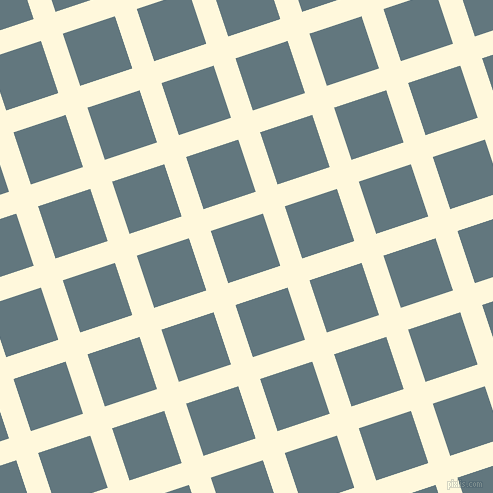18/108 degree angle diagonal checkered chequered lines, 23 pixel line width, 55 pixel square size, Corn Silk and Blue Bayoux plaid checkered seamless tileable