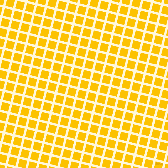76/166 degree angle diagonal checkered chequered lines, 8 pixel line width, 27 pixel square size, Corn Silk and Golden Poppy plaid checkered seamless tileable