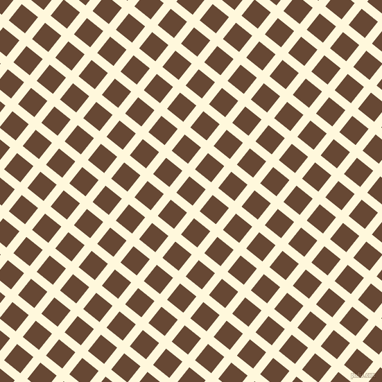51/141 degree angle diagonal checkered chequered lines, 13 pixel lines width, 30 pixel square size, Corn Silk and Jambalaya plaid checkered seamless tileable