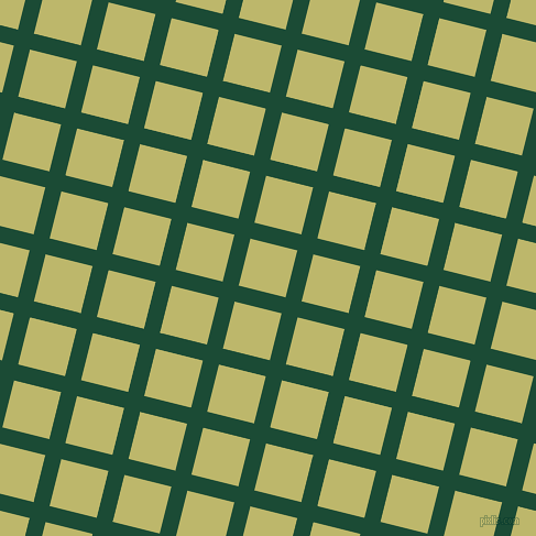 76/166 degree angle diagonal checkered chequered lines, 15 pixel lines width, 44 pixel square size, County Green and Dark Khaki plaid checkered seamless tileable