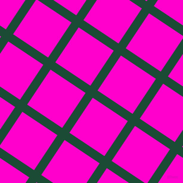 56/146 degree angle diagonal checkered chequered lines, 29 pixel line width, 141 pixel square size, County Green and Hot Magenta plaid checkered seamless tileable