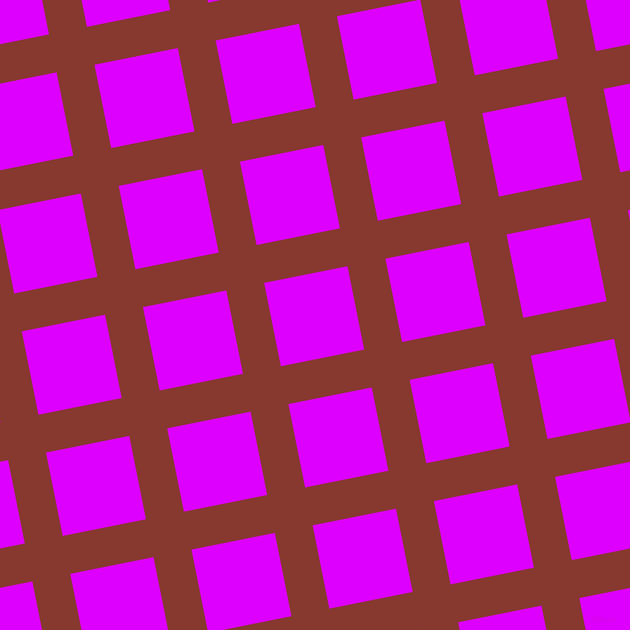 11/101 degree angle diagonal checkered chequered lines, 55 pixel lines width, 121 pixel square size, Crab Apple and Psychedelic Purple plaid checkered seamless tileable