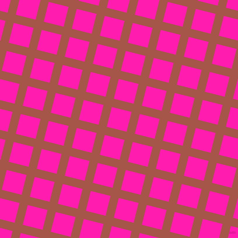 76/166 degree angle diagonal checkered chequered lines, 29 pixel lines width, 70 pixel square size, Crail and Spicy Pink plaid checkered seamless tileable