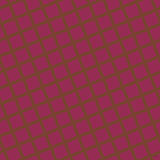 22/112 degree angle diagonal checkered chequered lines, 10 pixel line width, 39 pixel square size, Cumin and Lipstick plaid checkered seamless tileable