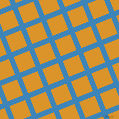 22/112 degree angle diagonal checkered chequered lines, 18 pixel lines width, 59 pixel square size, Curious Blue and Buttercup plaid checkered seamless tileable