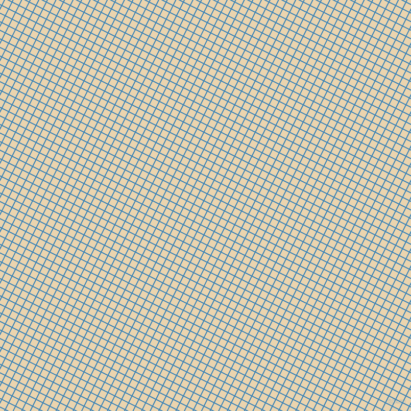 63/153 degree angle diagonal checkered chequered lines, 2 pixel lines width, 13 pixel square size, Curious Blue and Givry plaid checkered seamless tileable