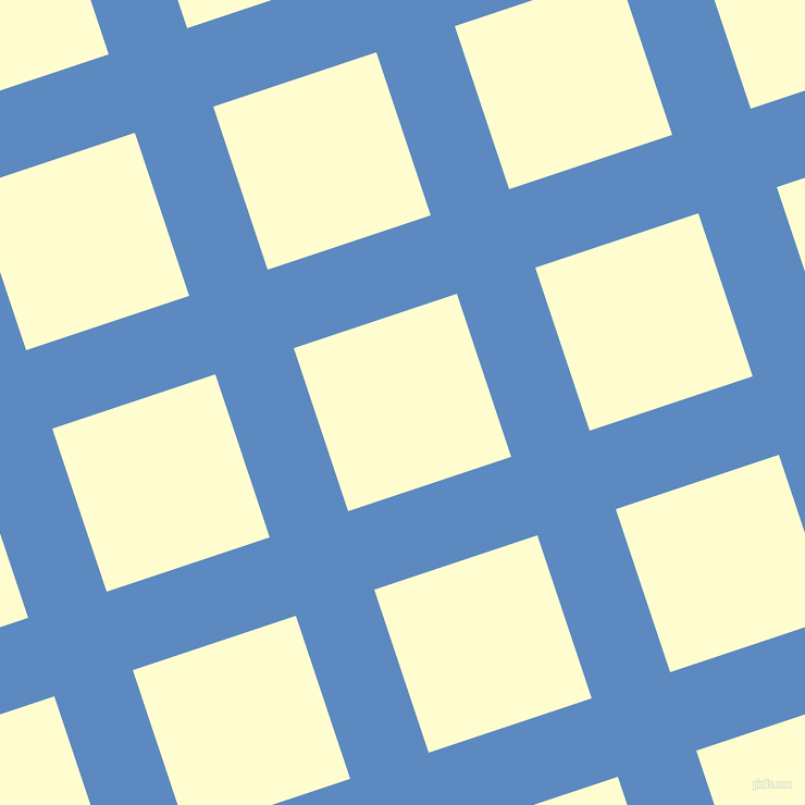 18/108 degree angle diagonal checkered chequered lines, 76 pixel lines width, 158 pixel square size, Danube and Cream plaid checkered seamless tileable