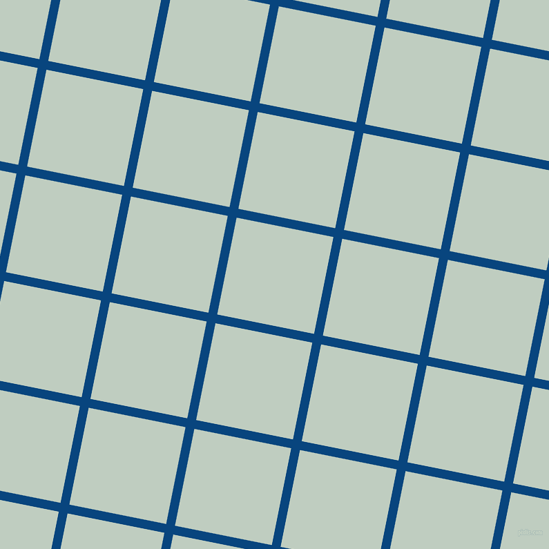 79/169 degree angle diagonal checkered chequered lines, 13 pixel line width, 143 pixel square size, Dark Cerulean and Paris White plaid checkered seamless tileable