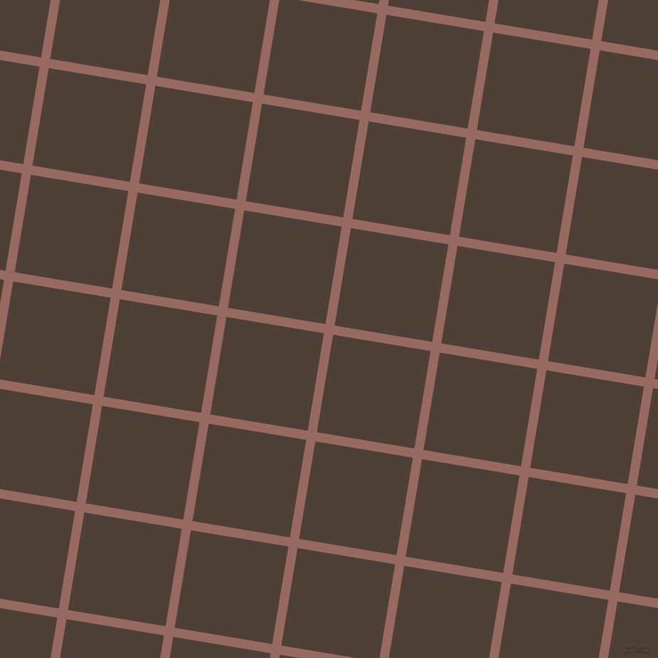 81/171 degree angle diagonal checkered chequered lines, 13 pixel line width, 139 pixel square size, Dark Chestnut and Paco plaid checkered seamless tileable
