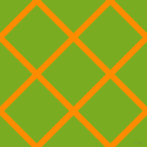 45/135 degree angle diagonal checkered chequered lines, 20 pixel lines width, 153 pixel square size, Dark Orange and Lima plaid checkered seamless tileable