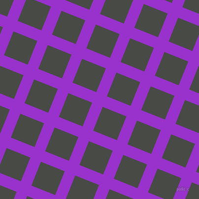 68/158 degree angle diagonal checkered chequered lines, 23 pixel line width, 52 pixel square size, Dark Orchid and Armadillo plaid checkered seamless tileable