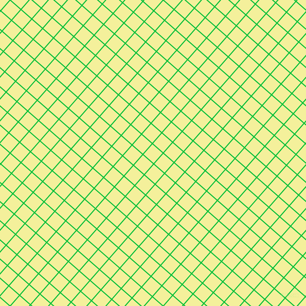 49/139 degree angle diagonal checkered chequered lines, 2 pixel lines width, 26 pixel square size, Dark Pastel Green and Portafino plaid checkered seamless tileable