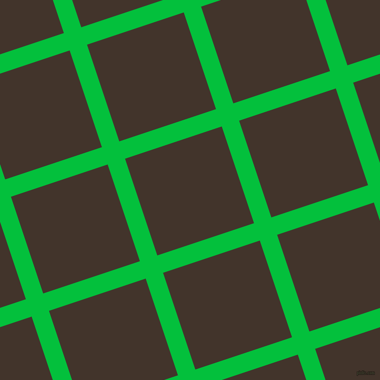 18/108 degree angle diagonal checkered chequered lines, 36 pixel lines width, 201 pixel square size, Dark Pastel Green and Slugger plaid checkered seamless tileable