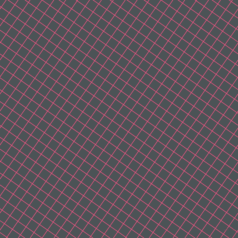 55/145 degree angle diagonal checkered chequered lines, 2 pixel line width, 30 pixel square size, Dark Pink and Trout plaid checkered seamless tileable