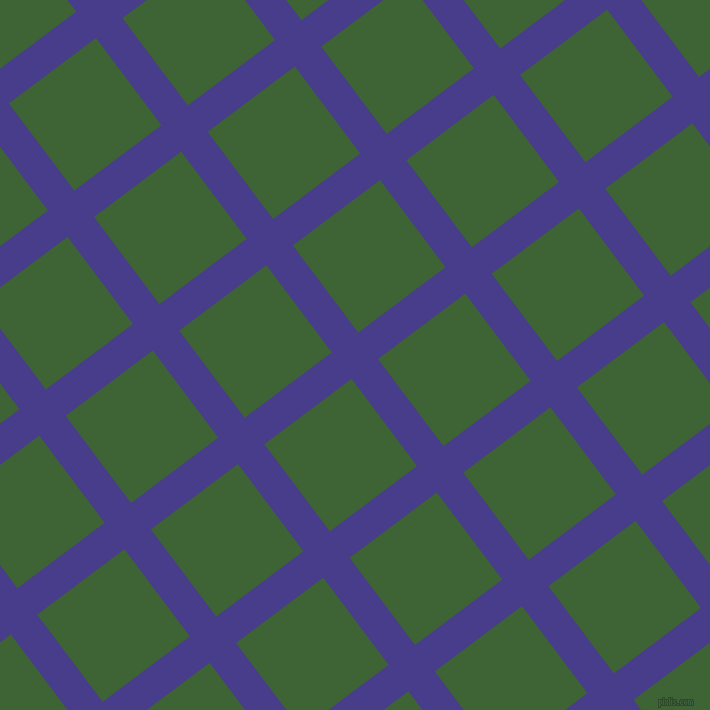 37/127 degree angle diagonal checkered chequered lines, 33 pixel line width, 109 pixel square size, Dark Slate Blue and Green House plaid checkered seamless tileable