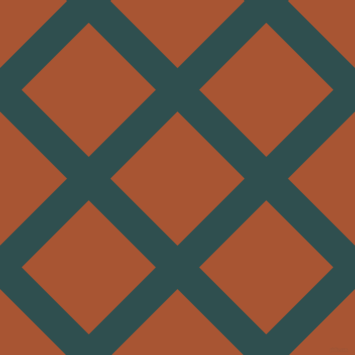 45/135 degree angle diagonal checkered chequered lines, 61 pixel lines width, 189 pixel square sizeDark Slate Grey and Vesuvius plaid checkered seamless tileable