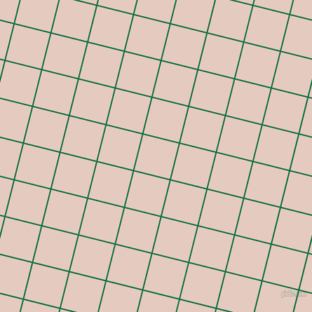 76/166 degree angle diagonal checkered chequered lines, 2 pixel line width, 52 pixel square size, Dark Spring Green and Dust Storm plaid checkered seamless tileable