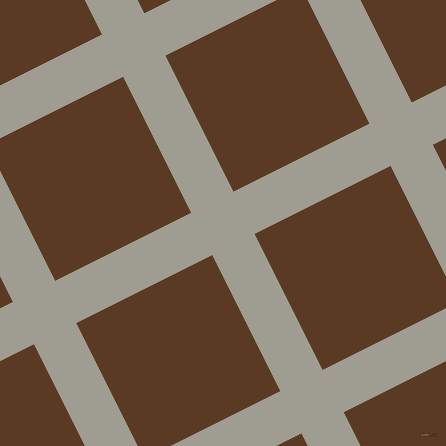 27/117 degree angle diagonal checkered chequered lines, 93 pixel lines width, 299 pixel square size, Dawn and Carnaby Tan plaid checkered seamless tileable