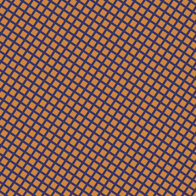 56/146 degree angle diagonal checkered chequered lines, 7 pixel lines width, 18 pixel square size, Deep Koamaru and Peru plaid checkered seamless tileable