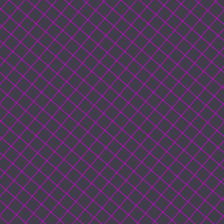 49/139 degree angle diagonal checkered chequered lines, 2 pixel line width, 37 pixel square size, Deep Magenta and Grape plaid checkered seamless tileable