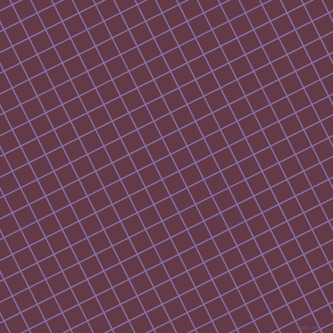 27/117 degree angle diagonal checkered chequered lines, 2 pixel line width, 25 pixel square size, Deluge and Tawny Port plaid checkered seamless tileable