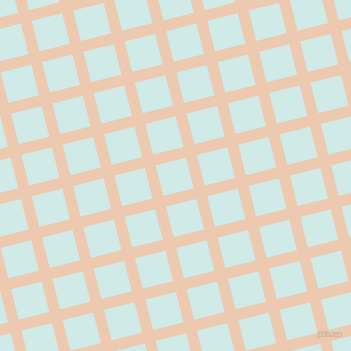 14/104 degree angle diagonal checkered chequered lines, 16 pixel line width, 45 pixel square size, Desert Sand and Foam plaid checkered seamless tileable