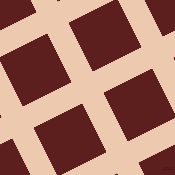 27/117 degree angle diagonal checkered chequered lines, 79 pixel lines width, 182 pixel square size, Desert Sand and Red Oxide plaid checkered seamless tileable
