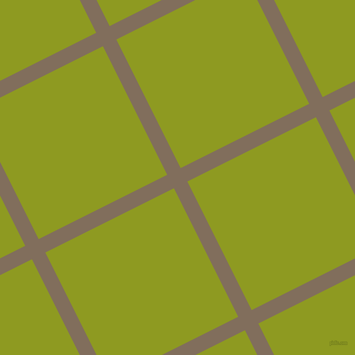 27/117 degree angle diagonal checkered chequered lines, 30 pixel line width, 288 pixel square size, Donkey Brown and Citron plaid checkered seamless tileable