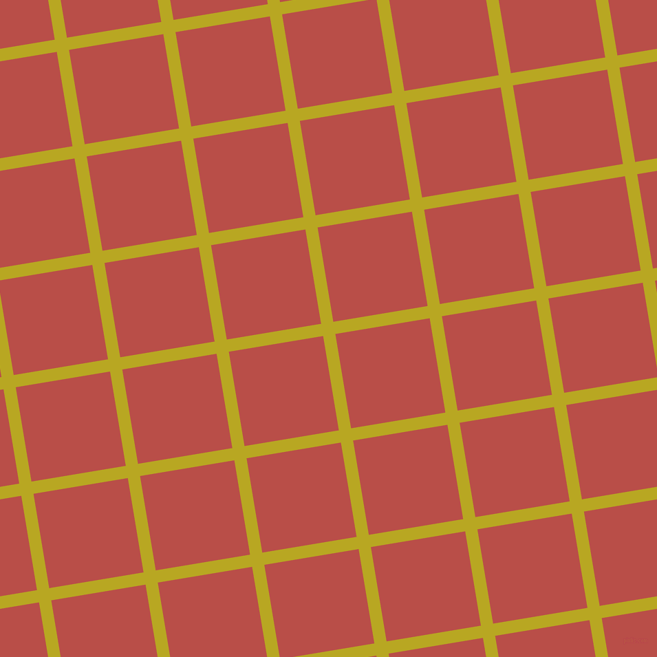 9/99 degree angle diagonal checkered chequered lines, 18 pixel line width, 139 pixel square size, Earls Green and Chestnut plaid checkered seamless tileable