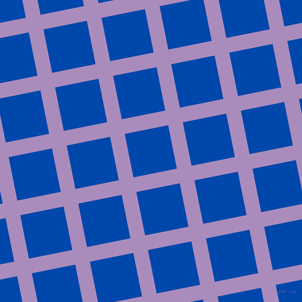 11/101 degree angle diagonal checkered chequered lines, 30 pixel lines width, 89 pixel square size, East Side and Cobalt plaid checkered seamless tileable