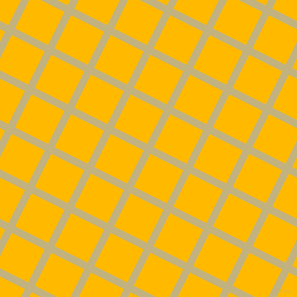 63/153 degree angle diagonal checkered chequered lines, 15 pixel line width, 75 pixel square size, Ecru and Selective Yellow plaid checkered seamless tileable
