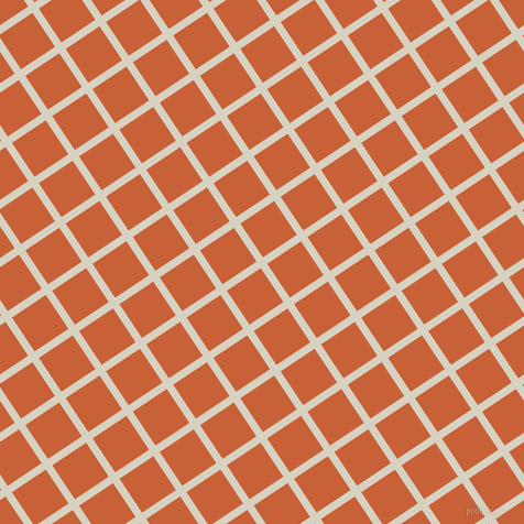 34/124 degree angle diagonal checkered chequered lines, 7 pixel lines width, 37 pixel square size, Ecru White and Ecstasy plaid checkered seamless tileable