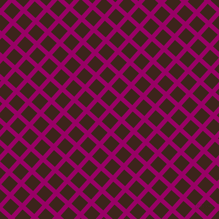 48/138 degree angle diagonal checkered chequered lines, 9 pixel lines width, 24 pixel square size, Eggplant and Brown Pod plaid checkered seamless tileable