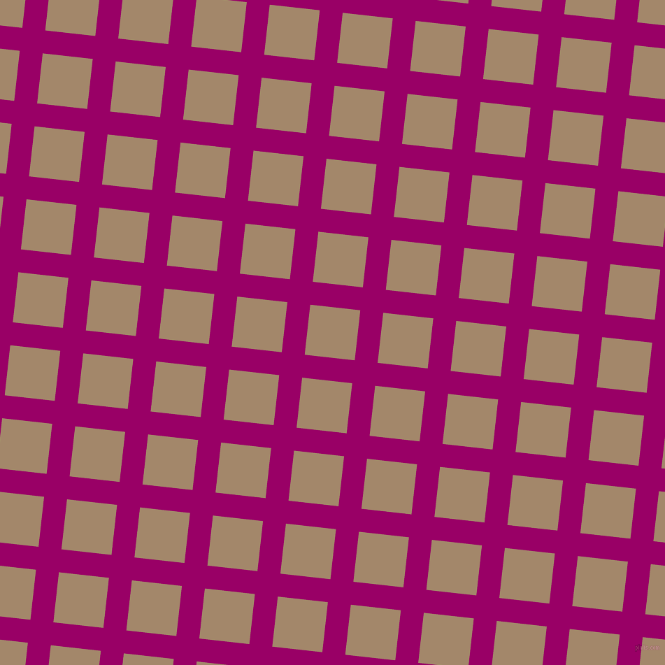 84/174 degree angle diagonal checkered chequered lines, 33 pixel lines width, 72 pixel square size, Eggplant and Sandal plaid checkered seamless tileable