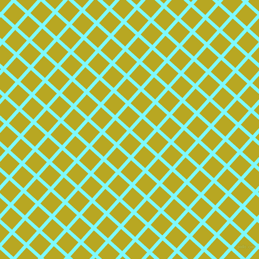 48/138 degree angle diagonal checkered chequered lines, 7 pixel line width, 31 pixel square size, Electric Blue and Earls Green plaid checkered seamless tileable