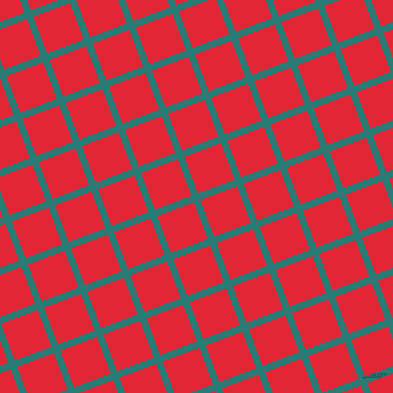 21/111 degree angle diagonal checkered chequered lines, 10 pixel line width, 57 pixel square size, Elm and Alizarin plaid checkered seamless tileable