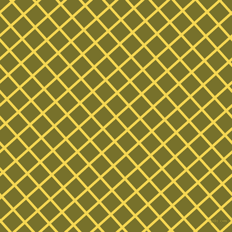 42/132 degree angle diagonal checkered chequered lines, 5 pixel line width, 29 pixel square size, Energy Yellow and Crete plaid checkered seamless tileable