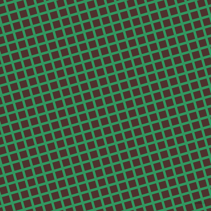 16/106 degree angle diagonal checkered chequered lines, 8 pixel lines width, 23 pixel square size, Eucalyptus and Espresso plaid checkered seamless tileable