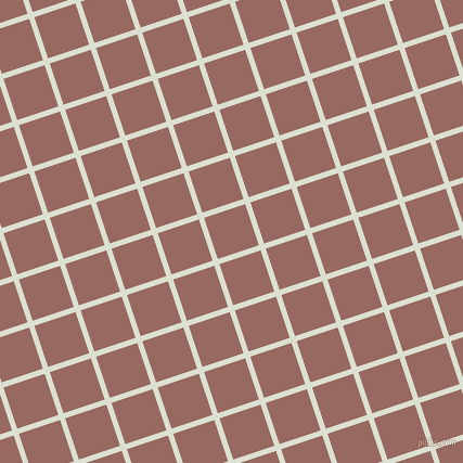 18/108 degree angle diagonal checkered chequered lines, 5 pixel line width, 40 pixel square size, Feta and Dark Chestnut plaid checkered seamless tileable