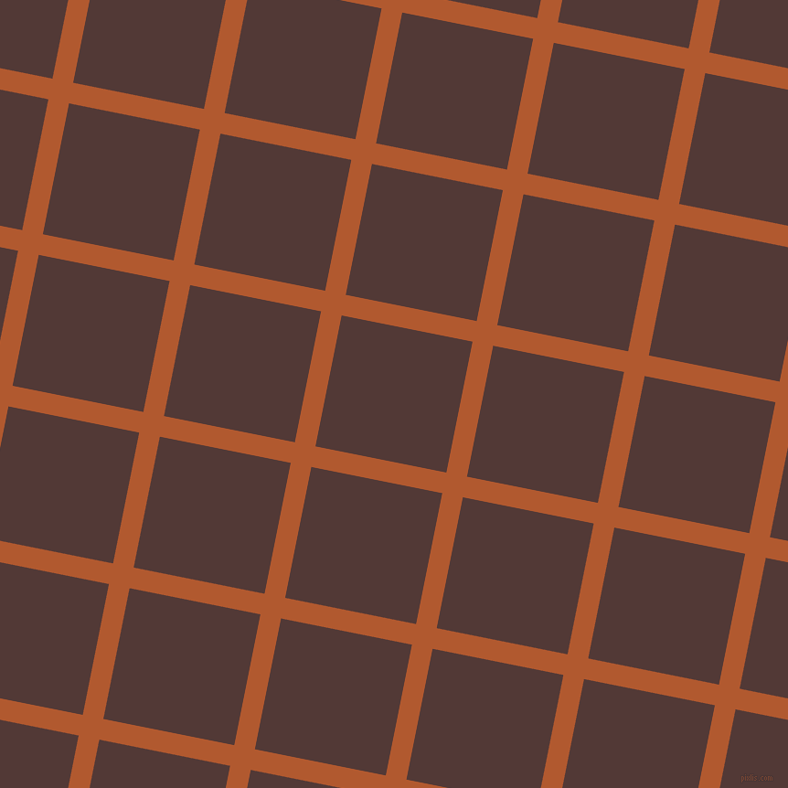 79/169 degree angle diagonal checkered chequered lines, 23 pixel lines width, 146 pixel square size, Fiery Orange and Van Cleef plaid checkered seamless tileable