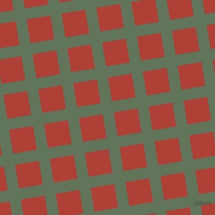 9/99 degree angle diagonal checkered chequered lines, 23 pixel line width, 49 pixel square size, Finlandia and Medium Carmine plaid checkered seamless tileable