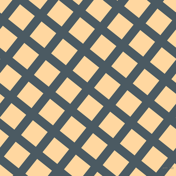 51/141 degree angle diagonal checkered chequered lines, 28 pixel lines width, 62 pixel square size, Fiord and Frangipani plaid checkered seamless tileable